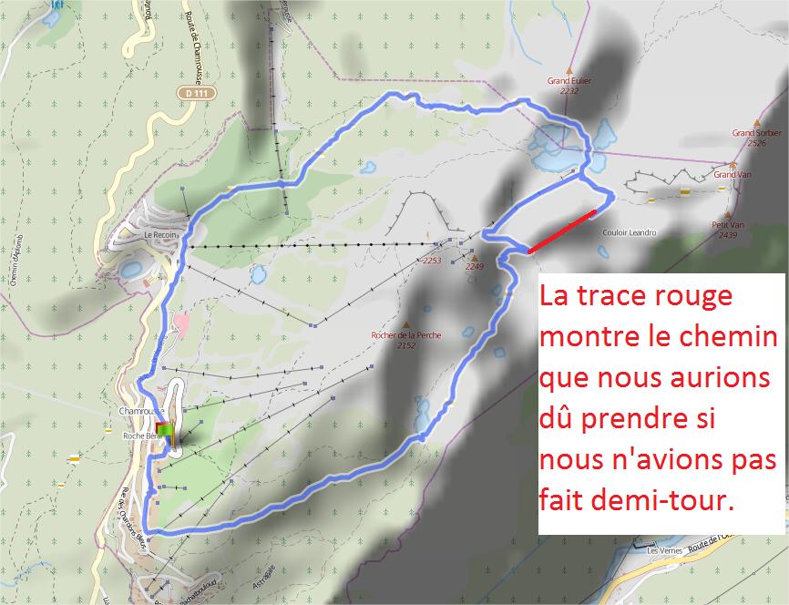 itinéraire gps randonnée Chamrousse