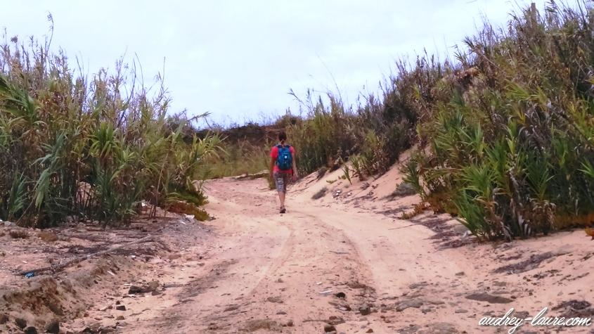 promenade sable porto santo chemin