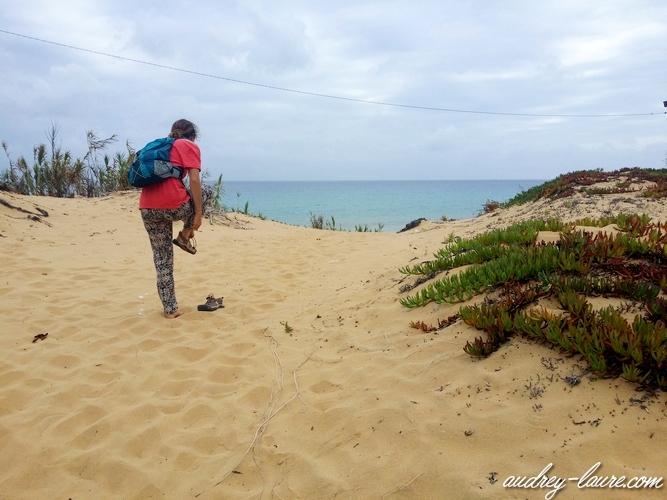 marcher dans le sable de porto santo