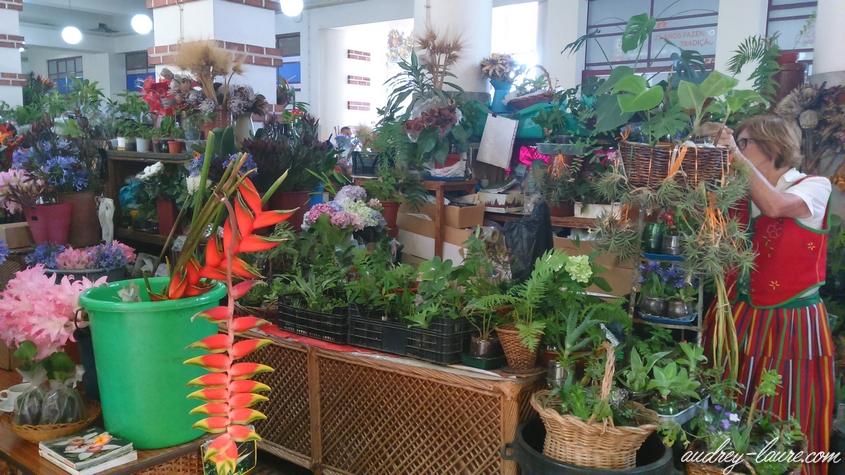 marché des  laboureurs funchal madère fleurs