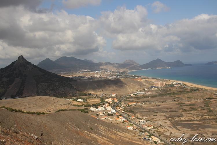 plage porto santo vue du haut
