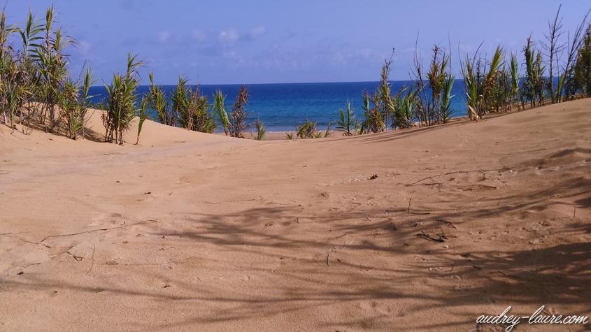 plage porto santo sable