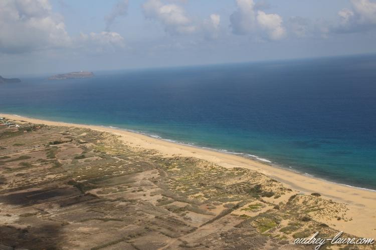 longue plage porto santo madère
