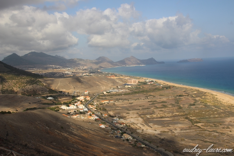 paysage plage porto santo madère