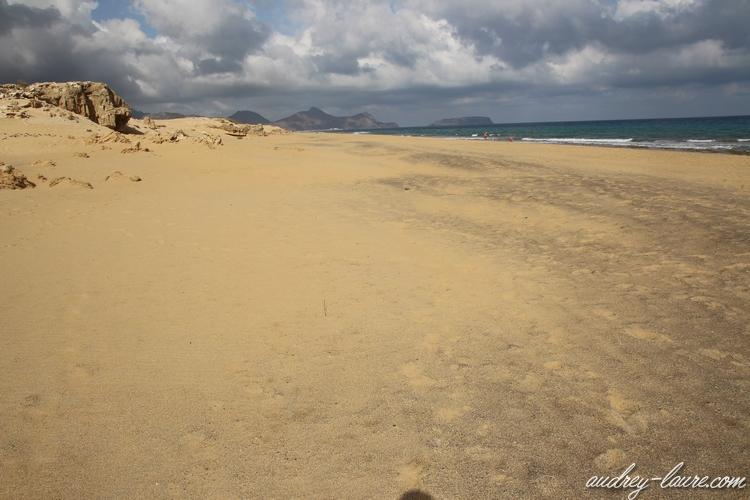 plage porto santo madère