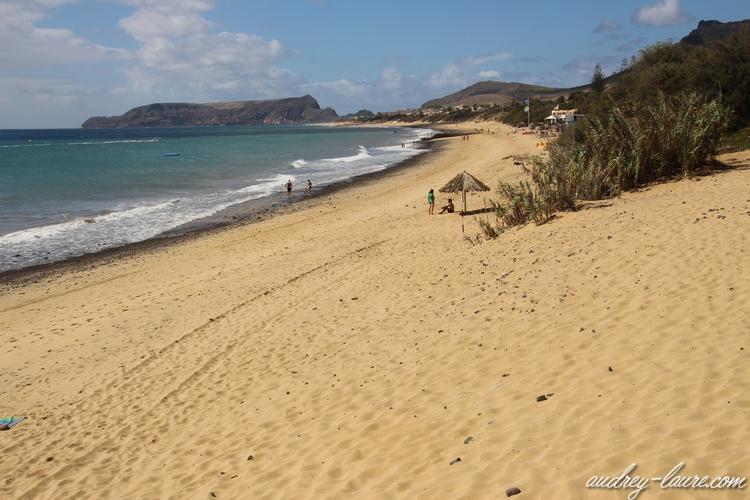 plage porto santo madère sable doré