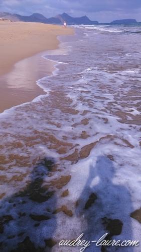 plage vagues porto santo