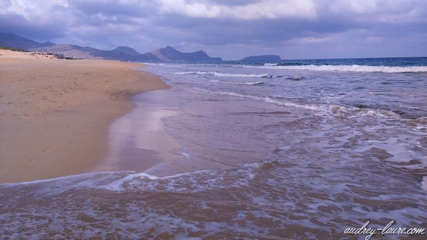 plage porto santo déserte