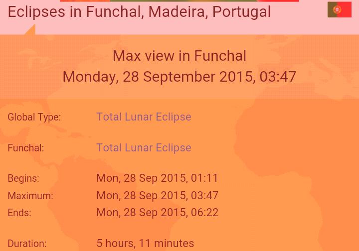 éclipse de lune madère