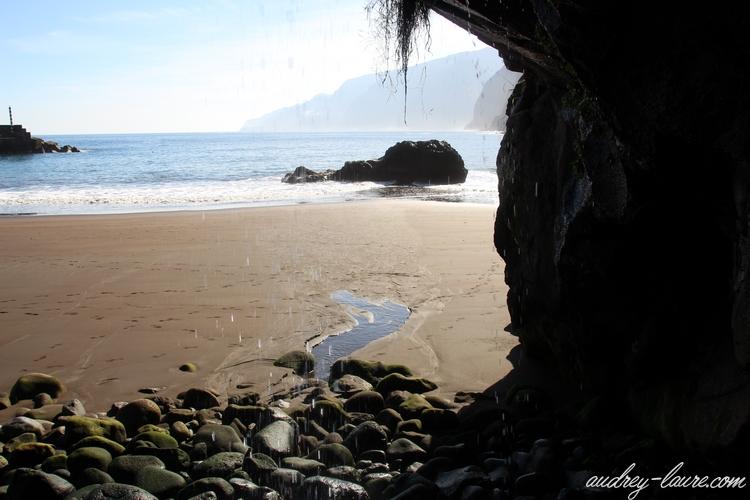 madère plage sable noir