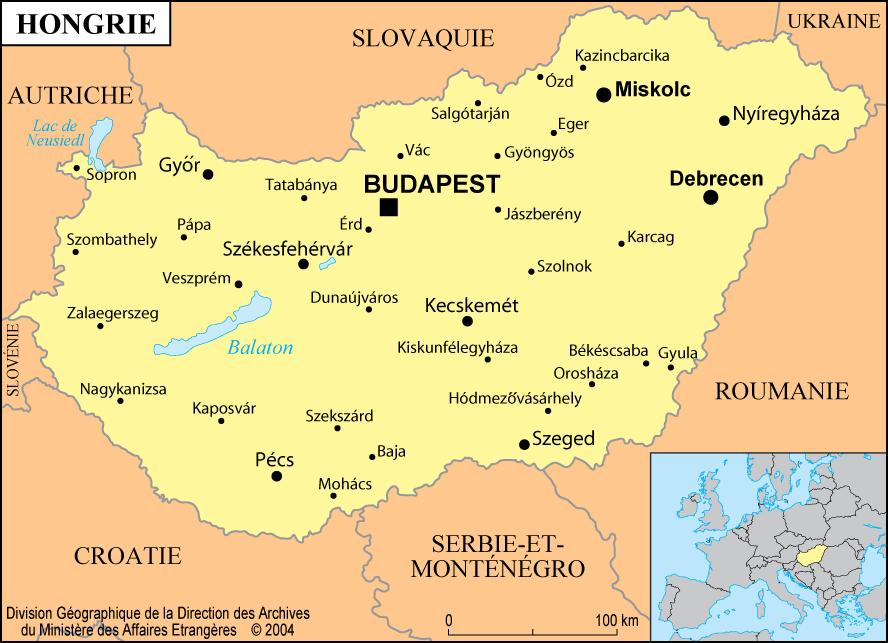 carte Hongrie Győr