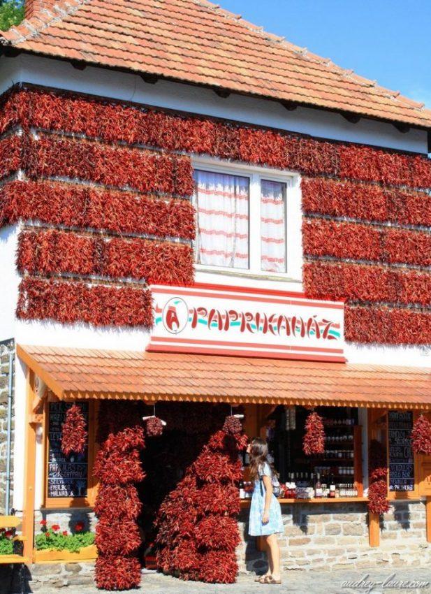 Tihany - Hongrie - Maison du piment