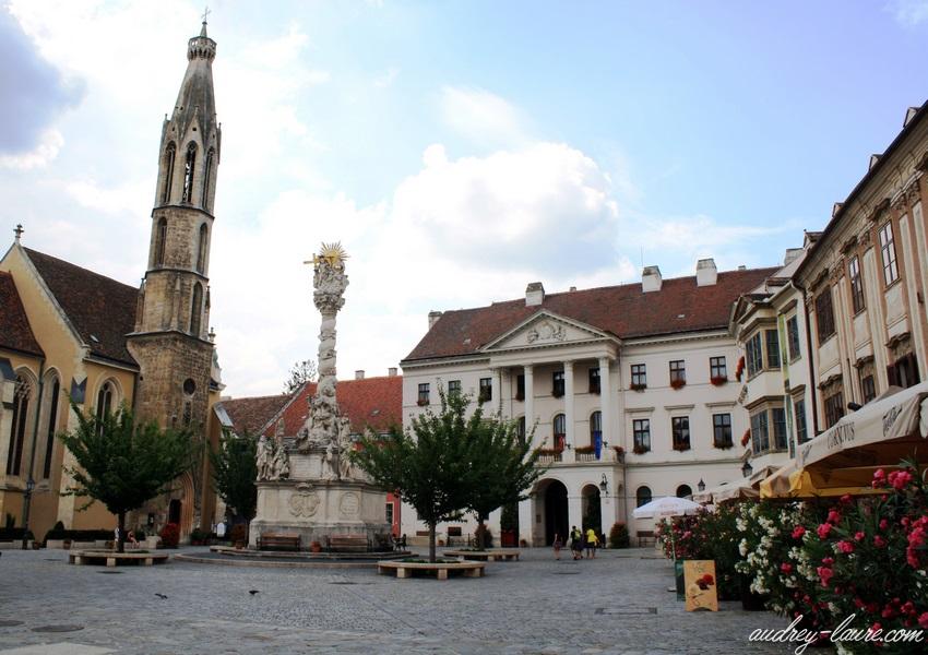 Sopron-voyage en Hongrie - place centrale