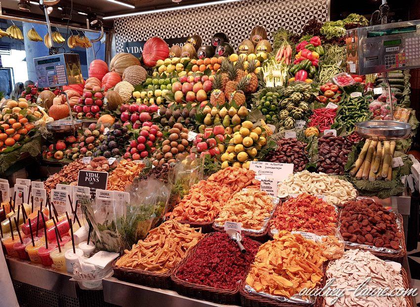 Barcelone- marché de la Boqueria -photo