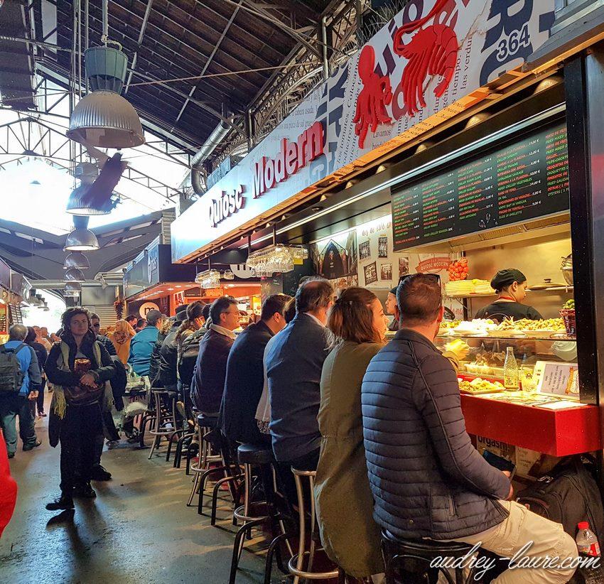 Manger à la Boqueria - Barcelone