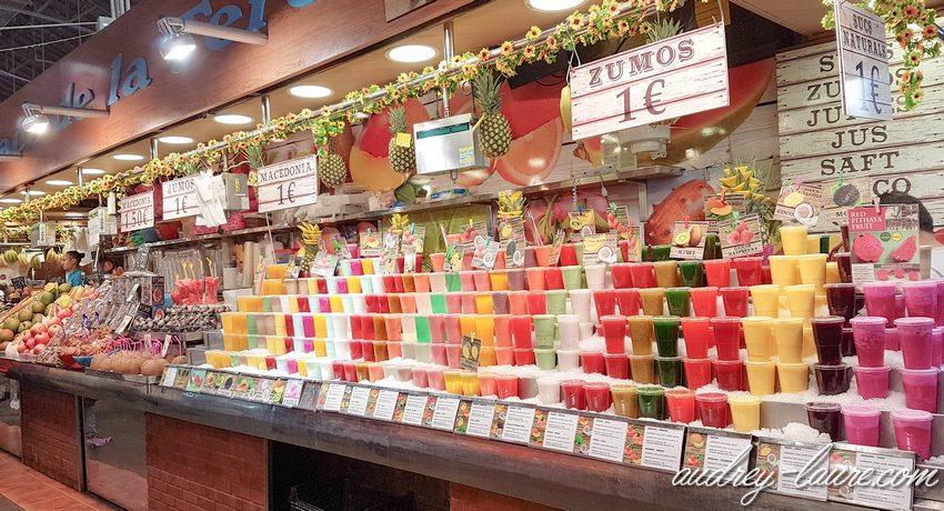 Barcelone voyage : jus de fruits frais