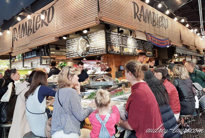 Manger au marché de la Boqueria - Barcelone