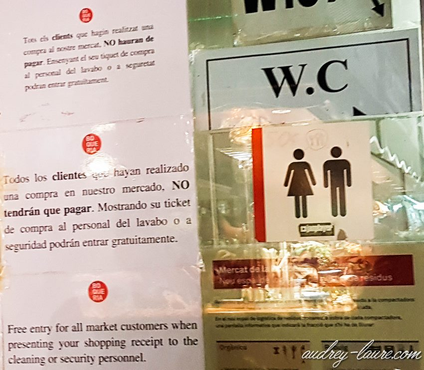 Où trouver des toilettes à Barcelone