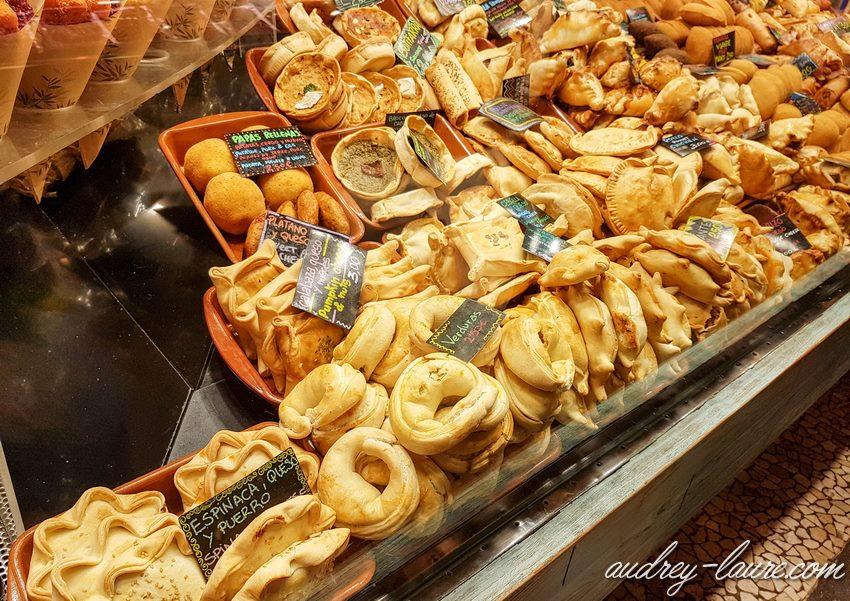 Marché couvert de la Boqueria - Barcelone - manger à emporter