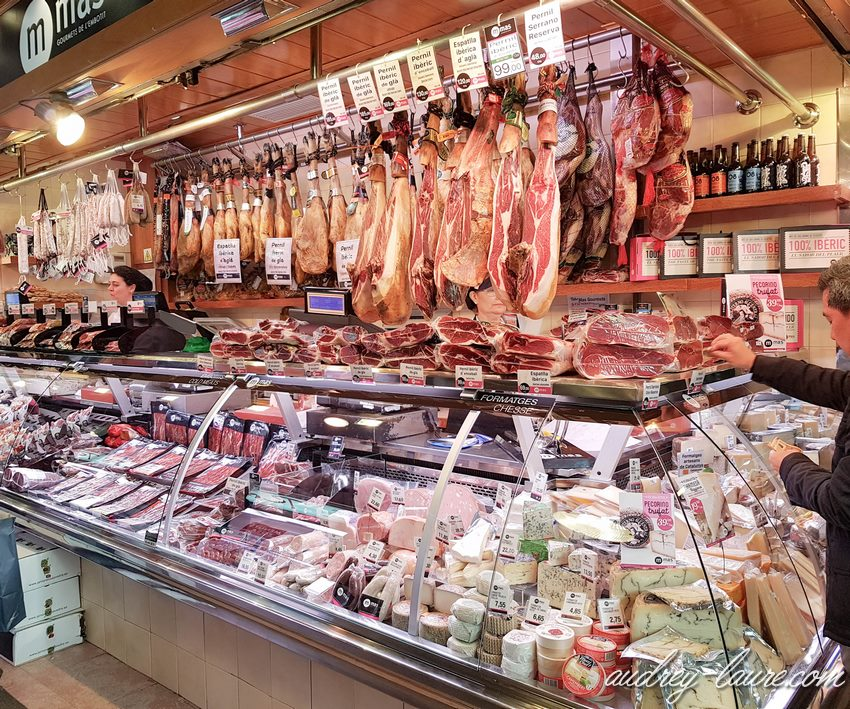 voyage à Barcelone - Boqueria - gastronomie espagnole