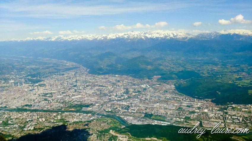 Vue sur Grenoble depuis Moucherotte