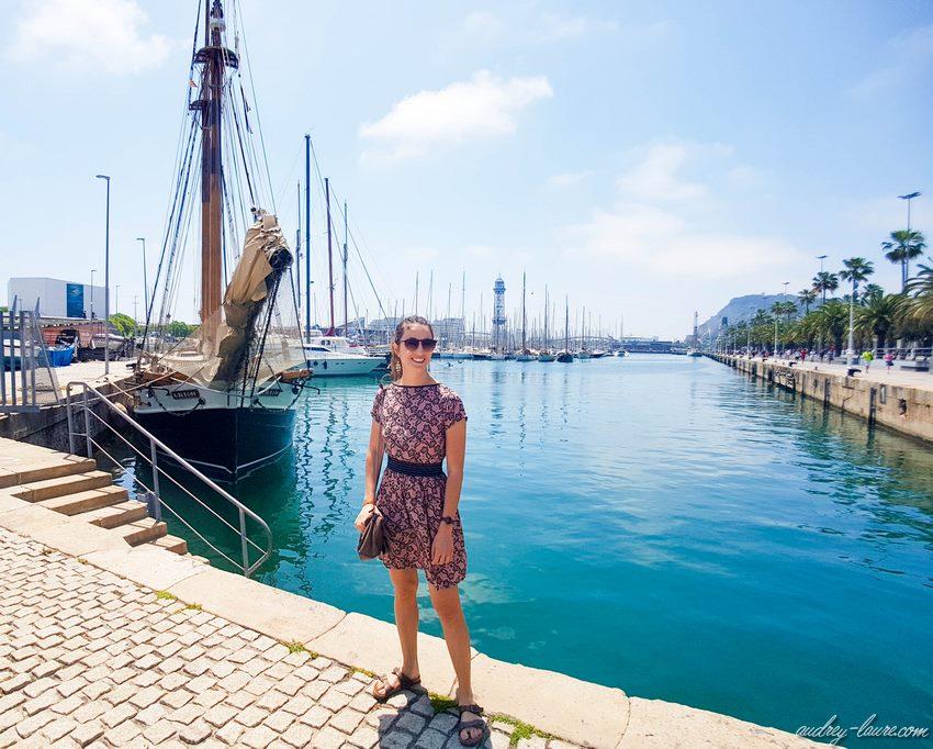 Port de Barcelone - blogueuse