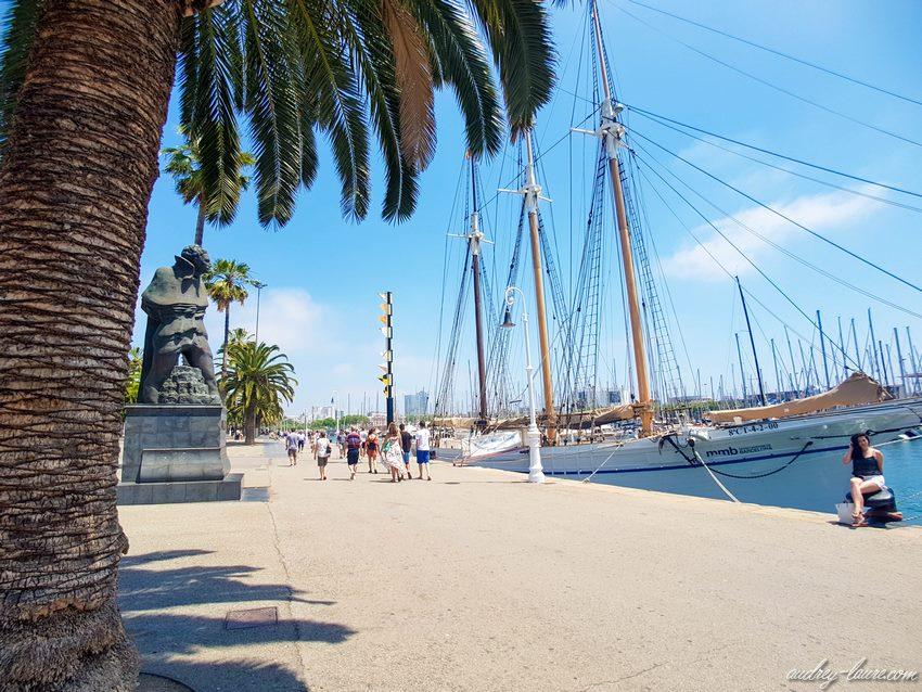 Rambla de Mar - voyage à Barcelone