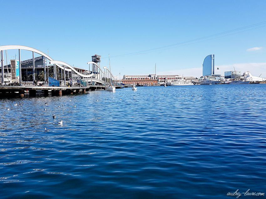 Passerelle bateaux - Barcelone