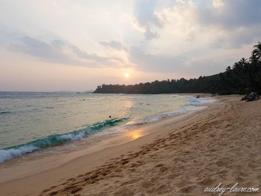 Coucher de Soleil sur la plage - Sri Lanka