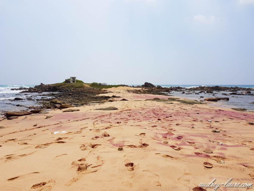 Sable rose- Plage de Marakkalagoda, Tangalle  les plus belles plages du Sri Lanka