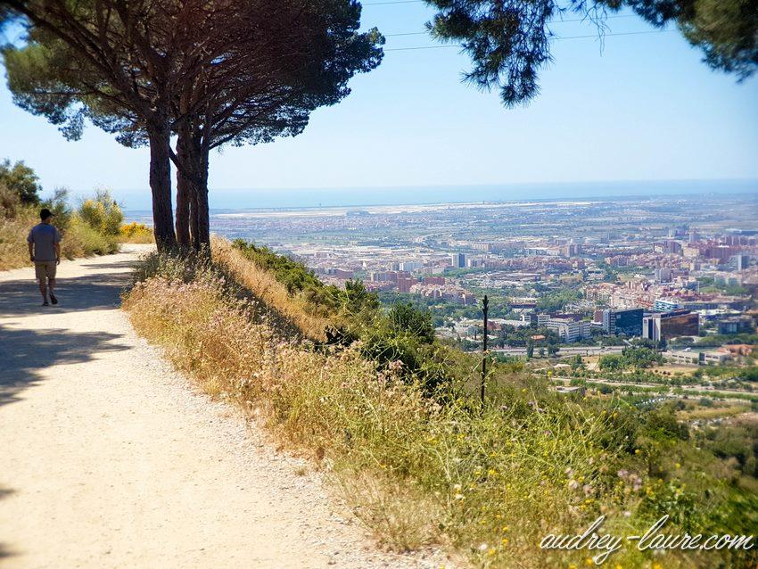 Sortie nature avec vue sur Barcelone