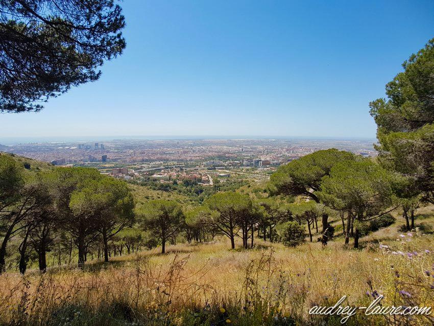 Promenade facile à Barcelone dans la nature