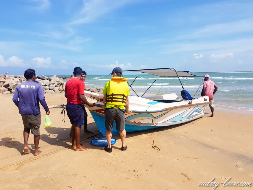 Bateau à Kalpitiya - séjour au Sri Lanka