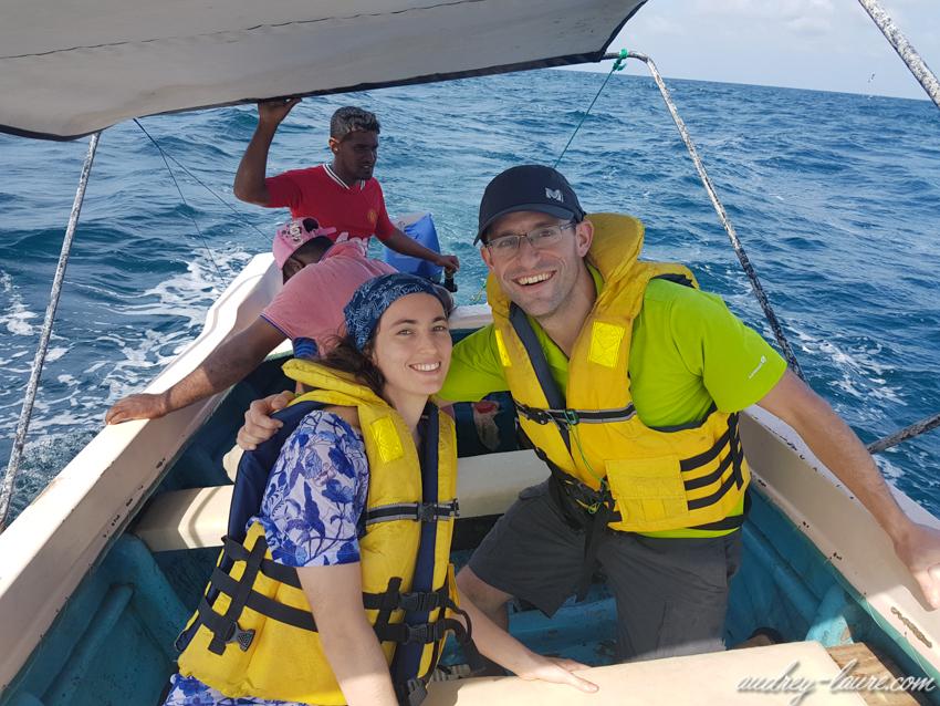 Bateau à Kalpitiya - séjour au Sri Lanka - aller voir les dauphins