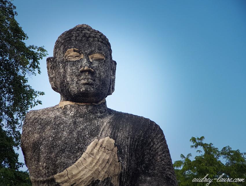 Bouddha - Polonnaruwa - voyage au Sri Lanka