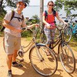 En vélo dans les ruines de Polonnaruwa