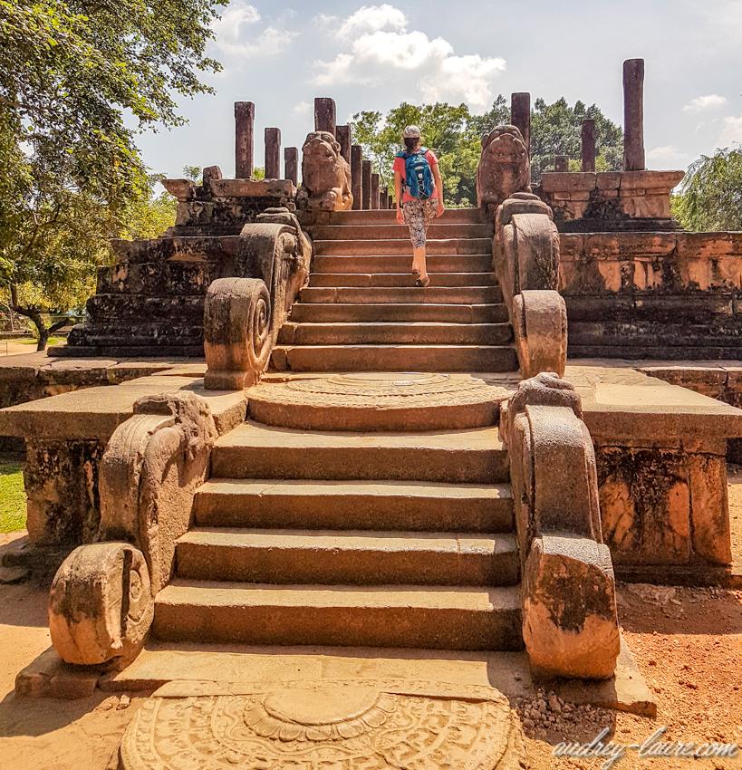 Salle du conseil de Nissanka Malla- Polonnaruwa