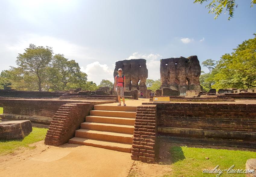 Palais royal - Polonnaruwa -circuit au Sri Lanka