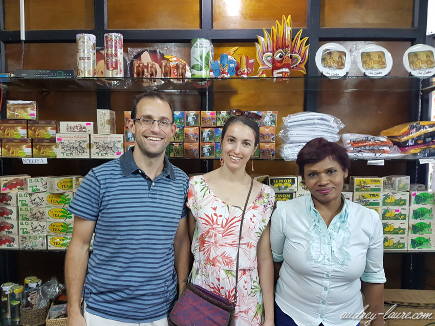 Boutique de thé au Sri Lanka - voyage