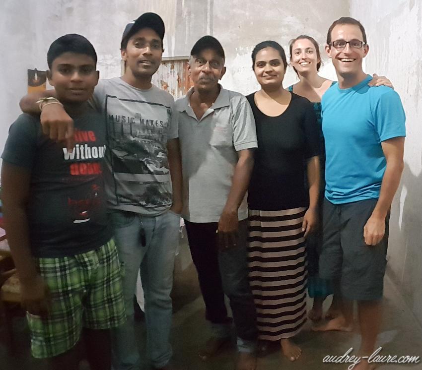 Repas chez l'habitant - Voyage au Sri Lanka