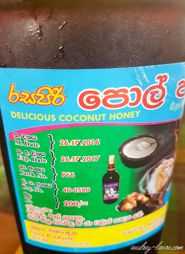 Kittu -miel de coco - alternative au miel - Sri Lanka - miel végétal