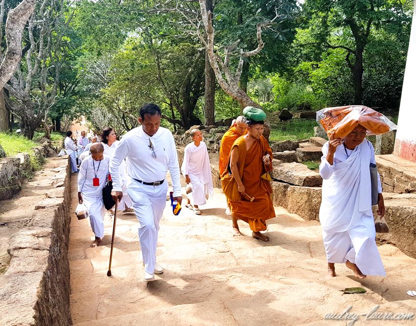 Voyage au Sri Lanka - pélérinage à Mihintale