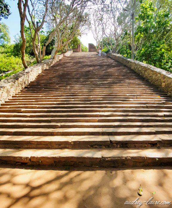 Visite de Mihintale - voyage au Sri Lanka - escaliers