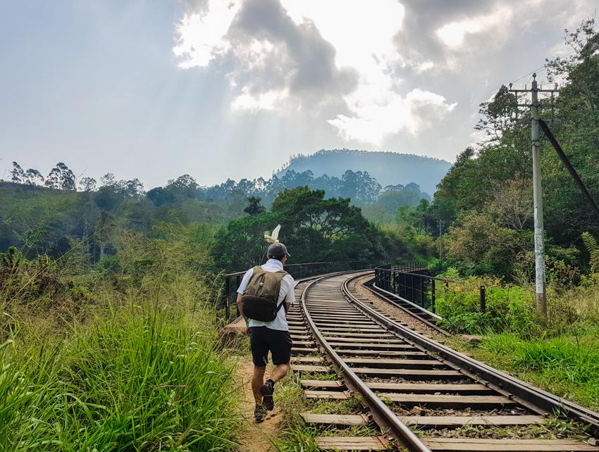 Sri Lanka voyage - voie ferrée