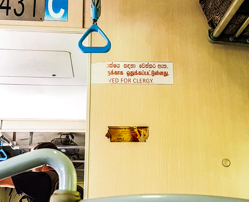 reserved for clergy - train - Sri Lanka
