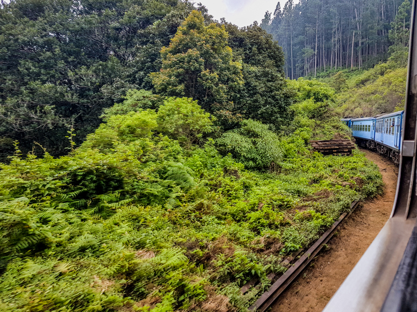 Voyage en train au Sri Lanka