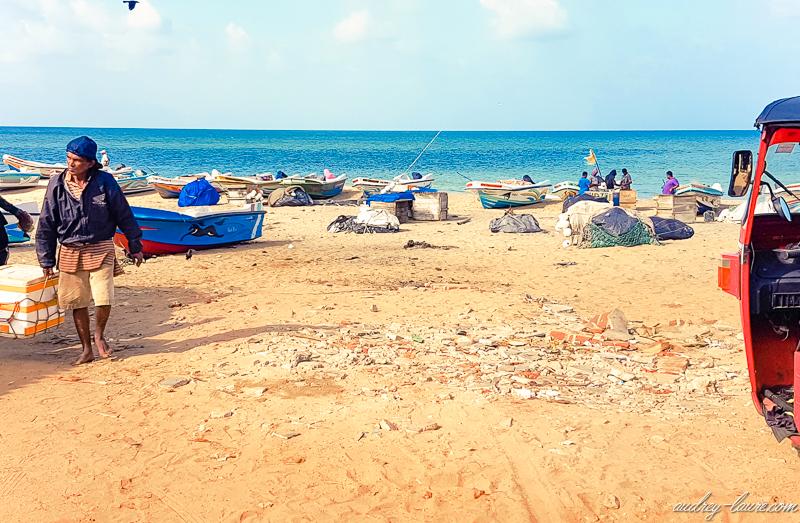 Village typique de pêcheurs sri lankais