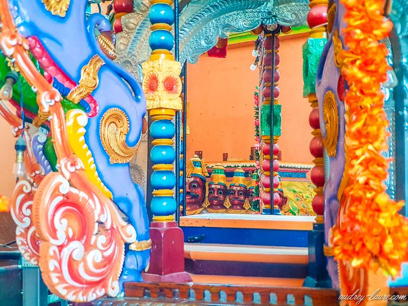 Muthumariamman-Temple- intérieur d'un temple hindou - hindouisme