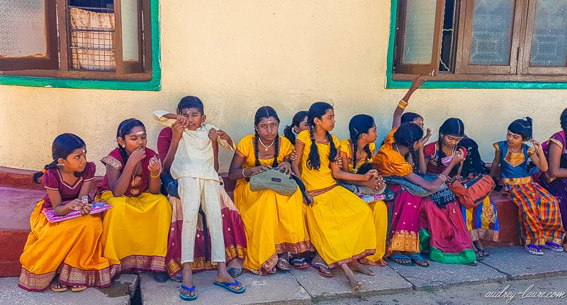 écoliers hindous - hindouisme