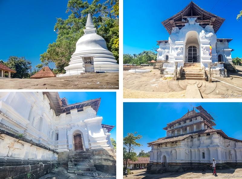 Blog-voyage-Sri-Lanka-Lankathilaka-temple-bouddhiste-fleurs-de-lotus-visite-temple